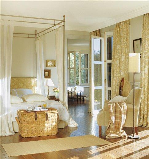 10 camas con dosel decoraci n retro - Cortinas dormitorio matrimonio corte ingles ...