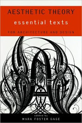 """Aesthetic Theory. Essential texts. For Architecture and Design"" Mark Foster Gage"