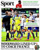 The Telegraph depict the moment Cesc Fabregas  was sent off for Chelsea against West Brom
