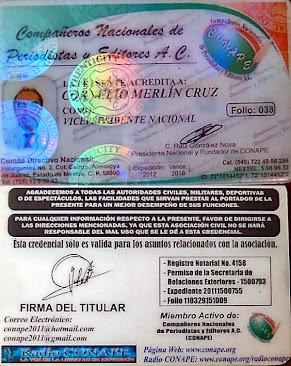 ACREDITACIÓN OFICIAL DE CONAPE A.C.