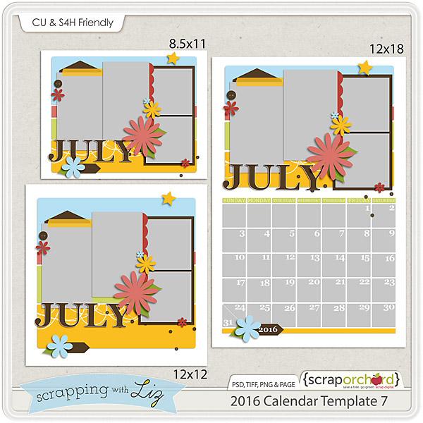 http://scraporchard.com/market/2016-Calendar-7-Digital-Scrapbook-Templates.html