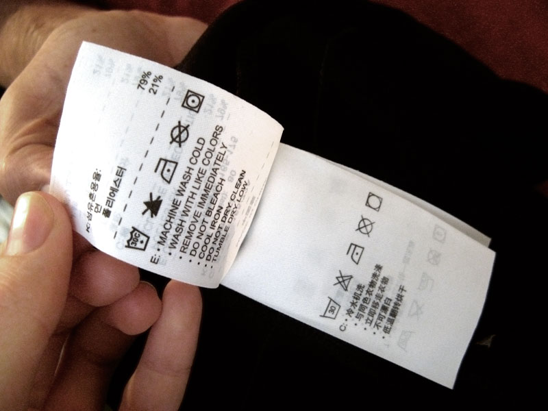 machine to put price tags on clothes