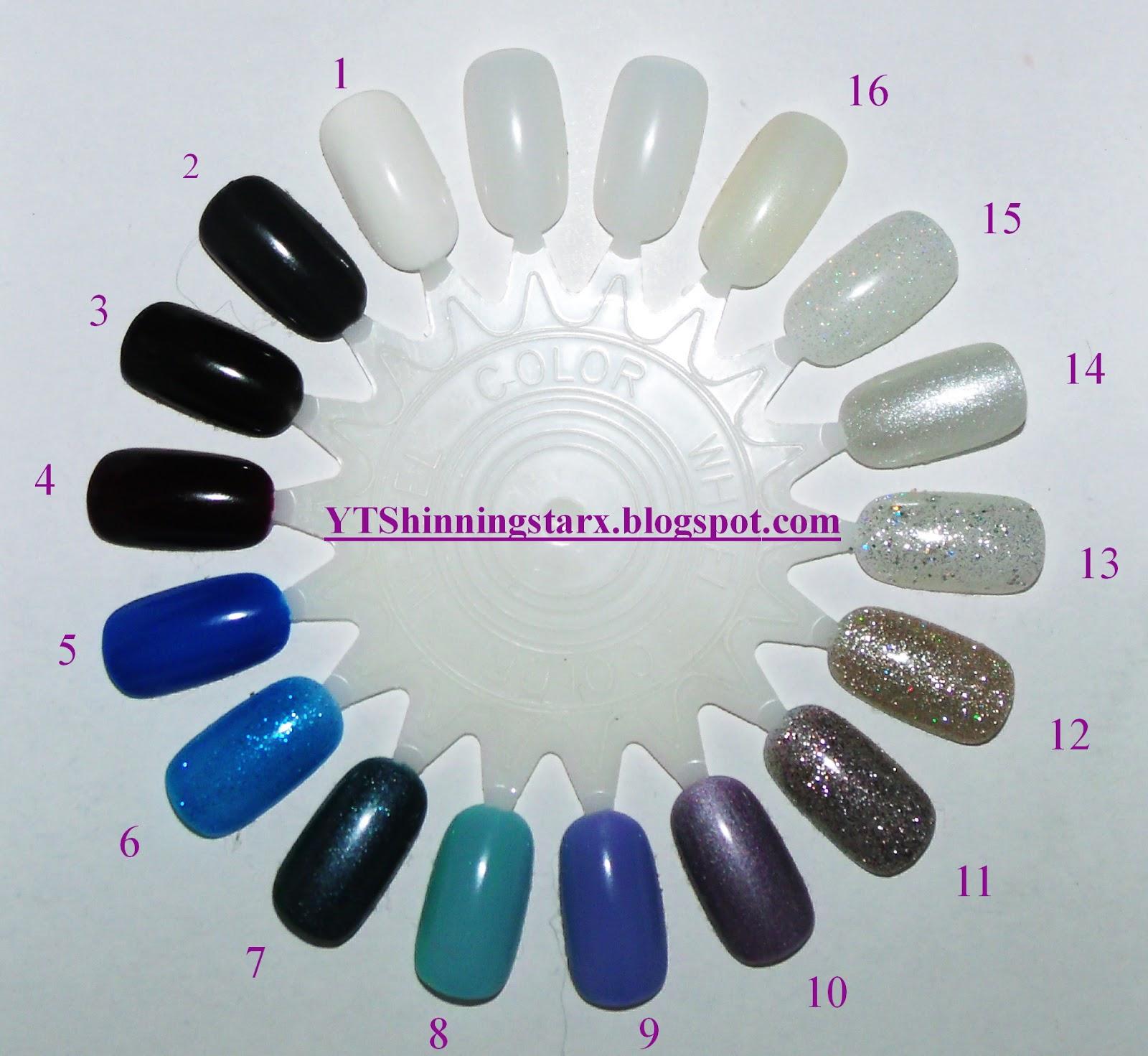 YTShinningstarx: Gel nail polish collection/ Nail wheel swatches