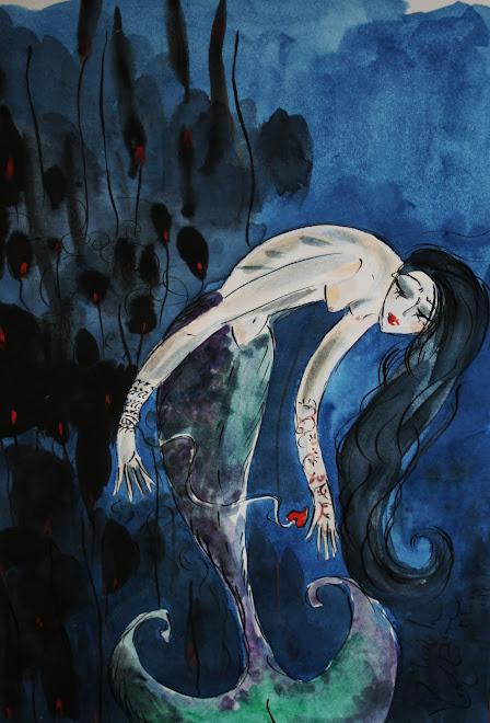 Sirène au coeur hameçon