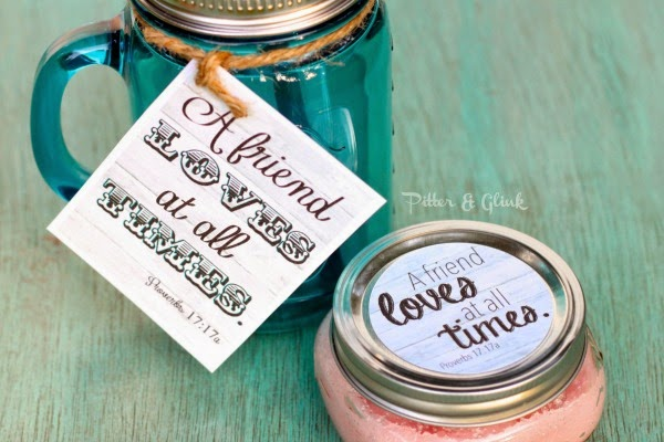 Free Printable Friendship Gift Tag and Jar Label pitterandglink.com