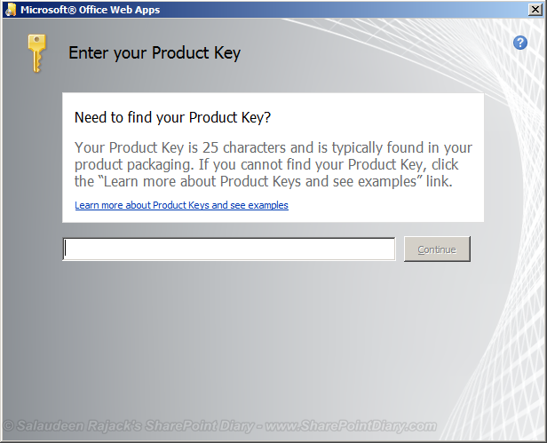 sharepoint 2010 office web apps product key