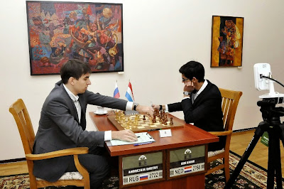 Échecs à Tashkent : Dmitry Andreikin annule face à Anish Giri lors de l'ultime la ronde 11 - Photo © Anastasia Karlovich