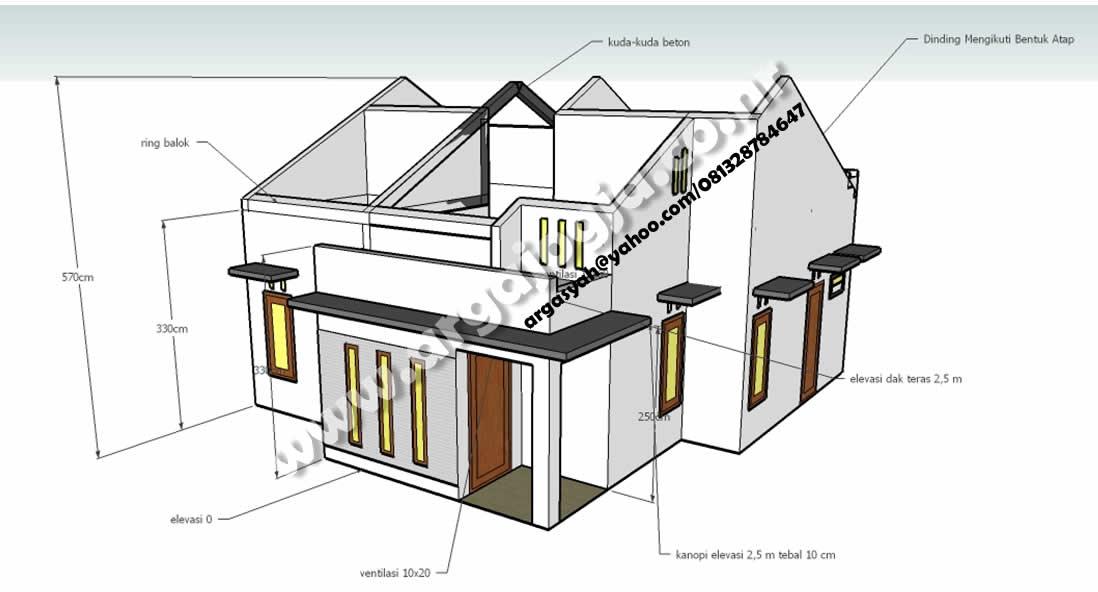desain rumah modern minimalis arga jogja files