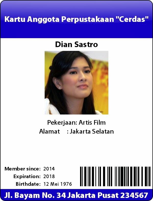 Contoh  ID Card Online Gratis 1