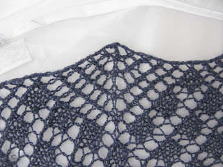 Asphodel knitted lace shawl by Littletheorem