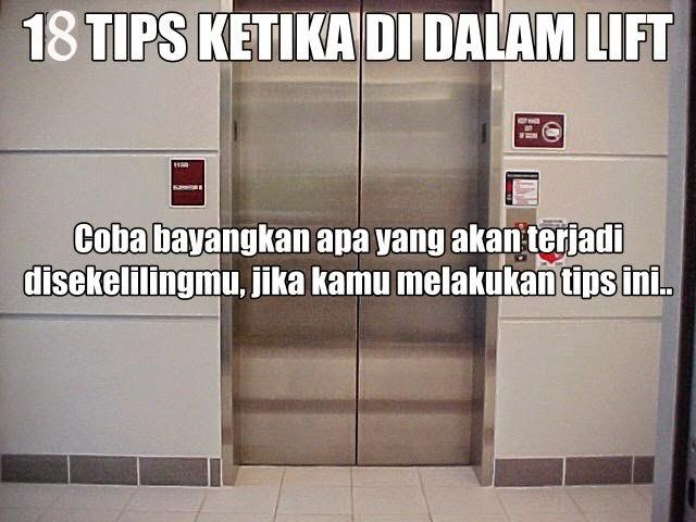 tips unik, unik, lift terunik, berada dalam lift, tips terunik