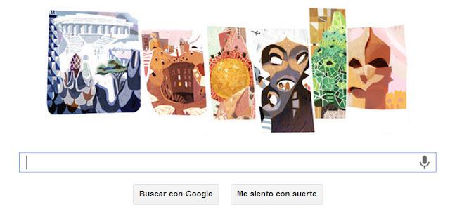 Antoni gaud 161 aniversario doodle - Arquitecto espanol famoso ...