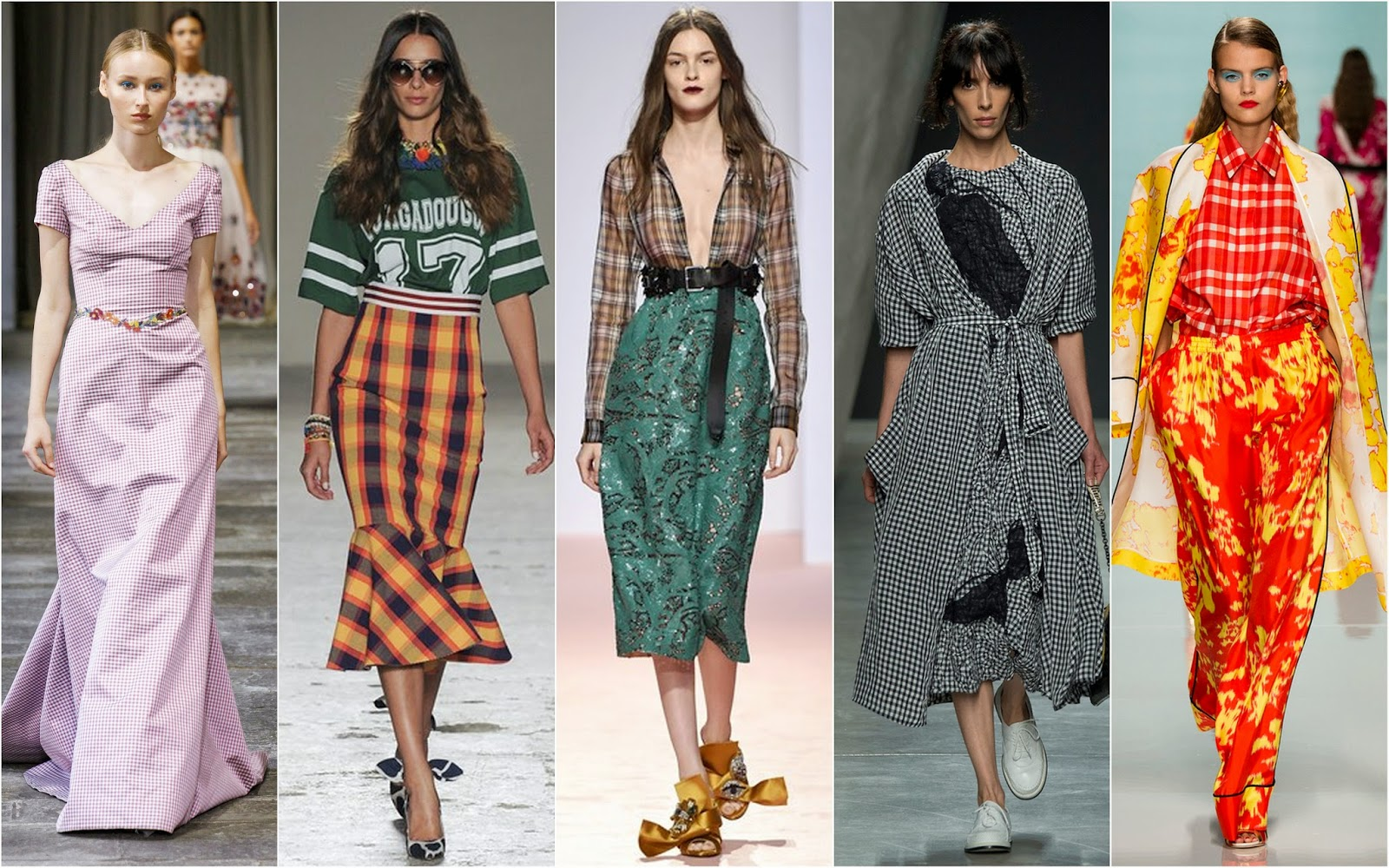 Fashion week Trend spring matching prints for lady