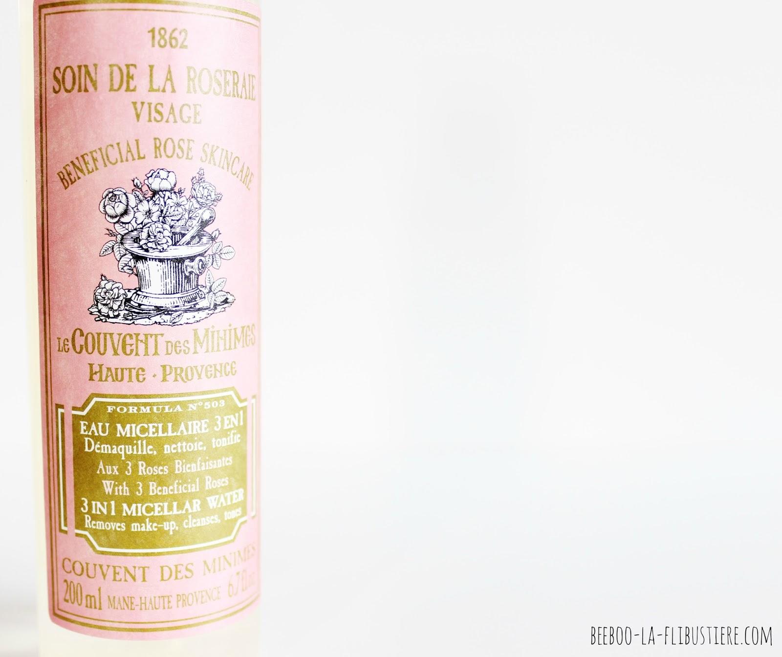 Le Couvent des Minimes eau micellaire 3 en 1