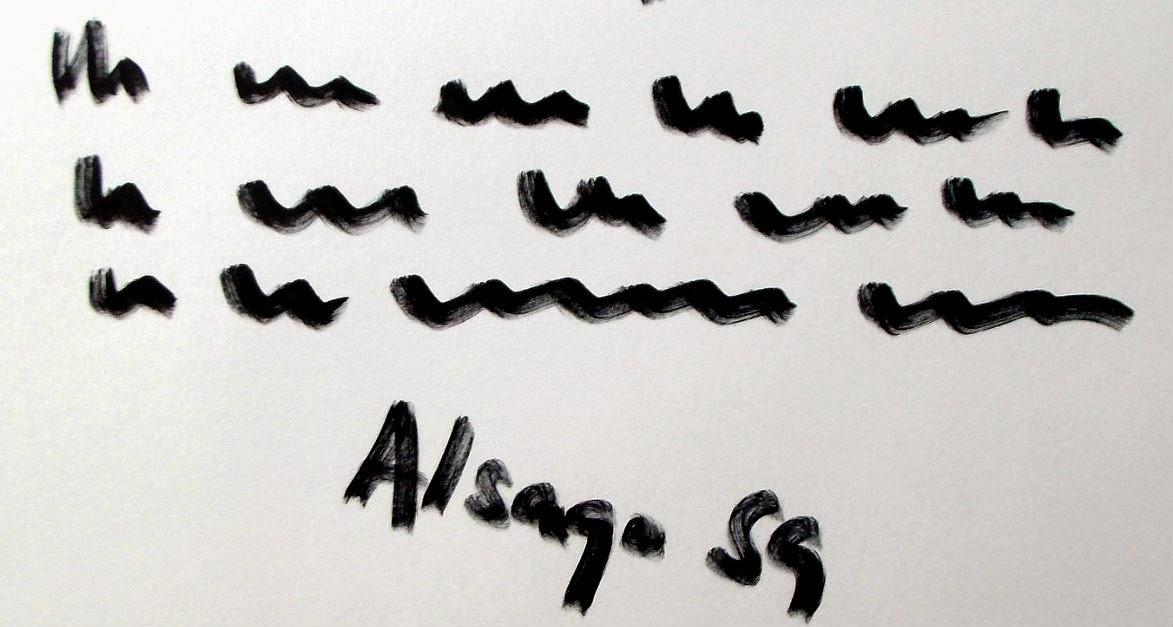 Grafología, La firma. Diferencias de Inclinación