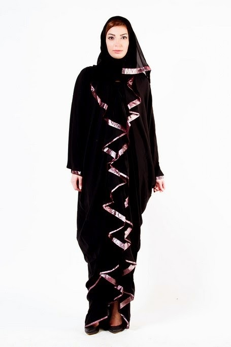 Embroidered Abaya Designs and Hijab Fashion 2014