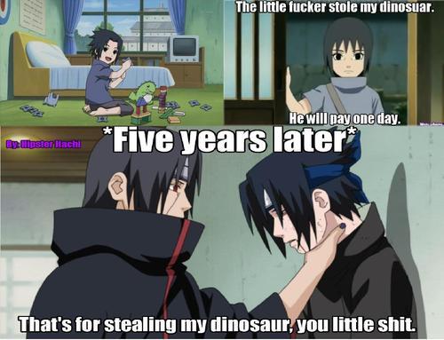 tumblr_mm3tvf6Blu1r3pycko1_500 funny naruto meme manga memes dont steal itachi's dinosaur