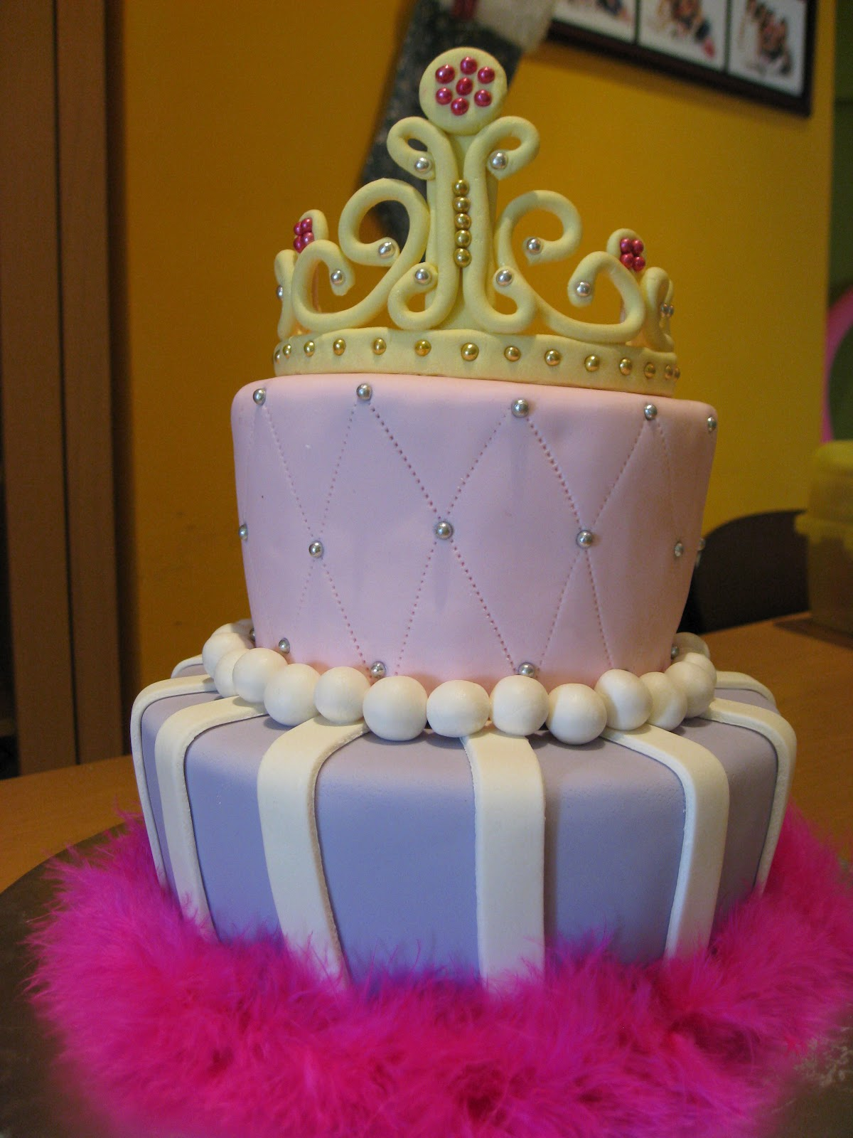The Nocturnal Baker Princess Tiara Fondant Birthday Cake