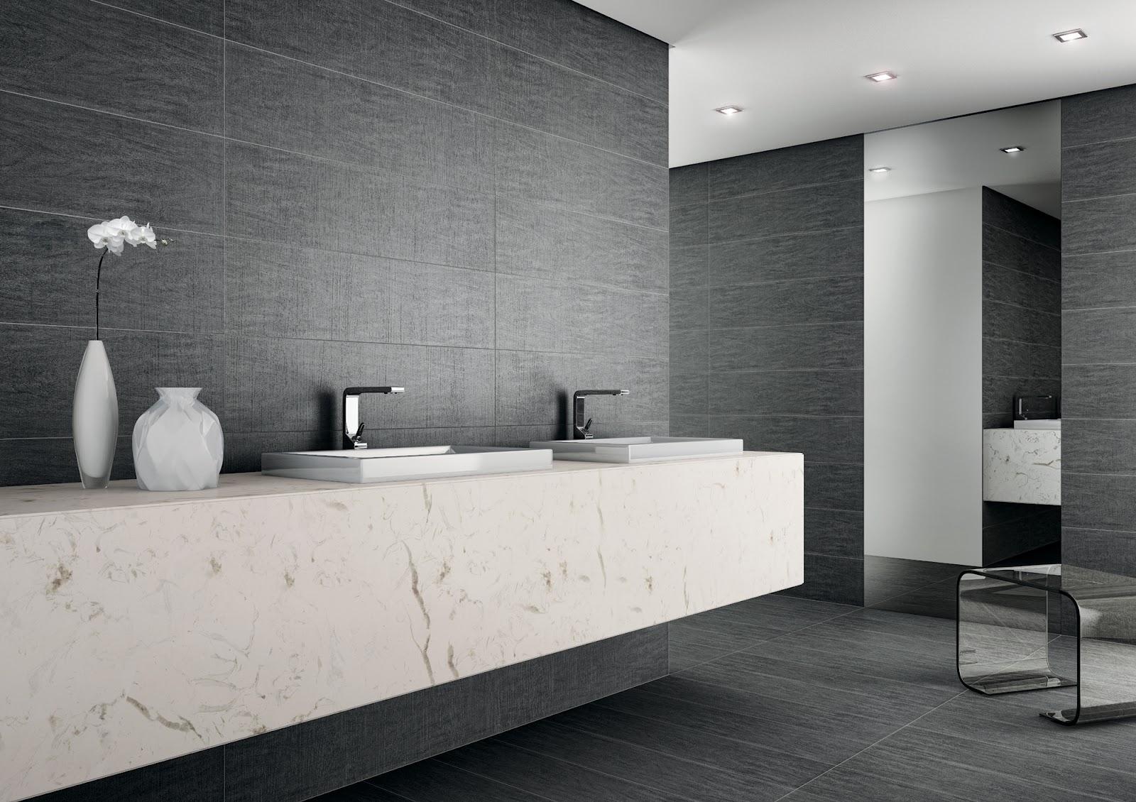 #6D665E Blog da Revestir.com: Um pouco de muito 1600x1130 px Banheiros Decorados Com Revestimento Portinari 1087