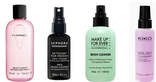 liquido para limpiar brochas de maquillaje