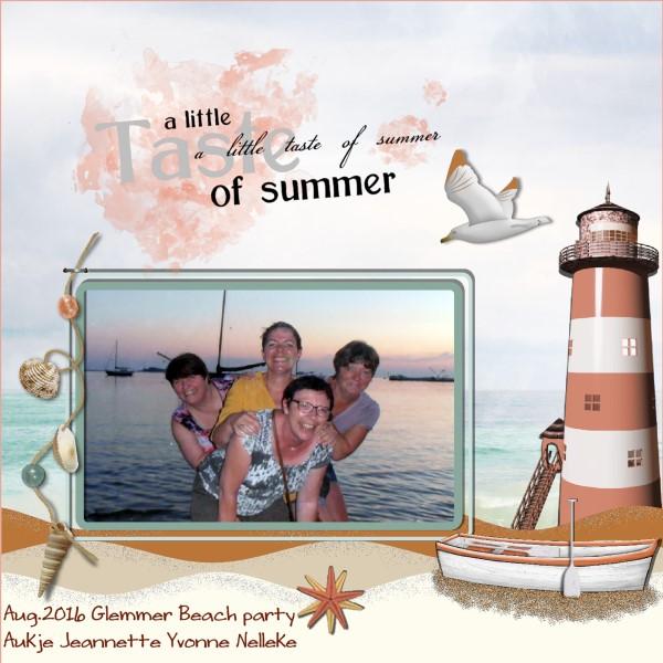 Sept. 2016 - Aug.2016 Glemmer Beach party