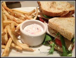 Bistro Club with fries and Kalamata olive aïoli