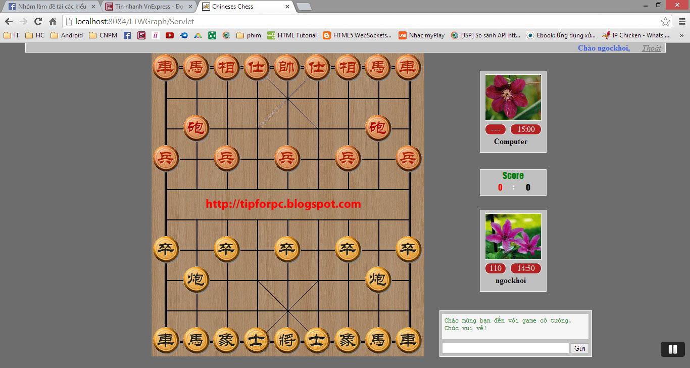 Source JSP Mã nguồn Web game cờ tướng sử dụng ajax