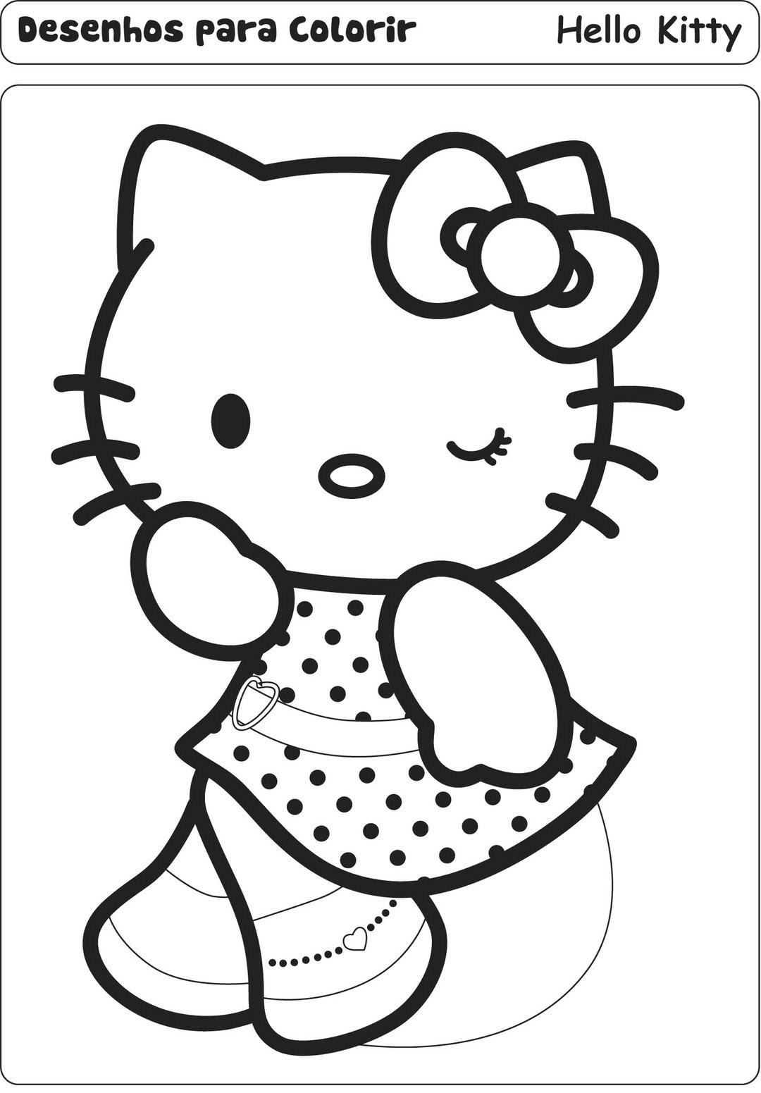 Desenhos Para Colori princesa hello kitty desenhar