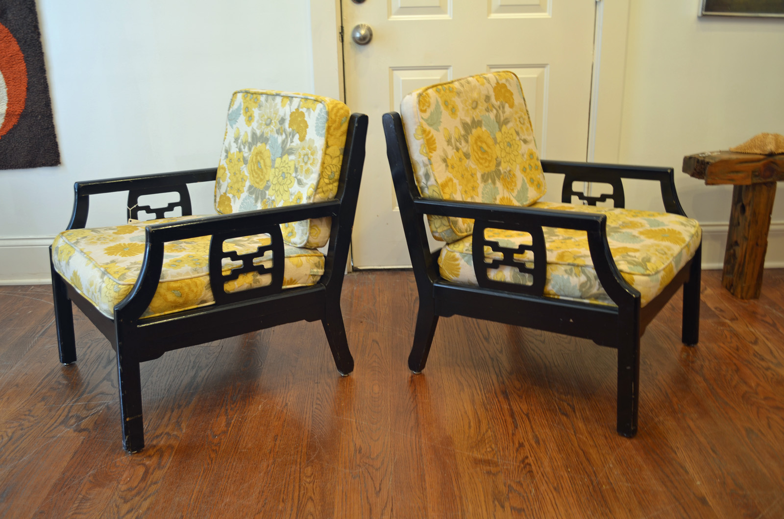 Mid Century Asian Style Chairs