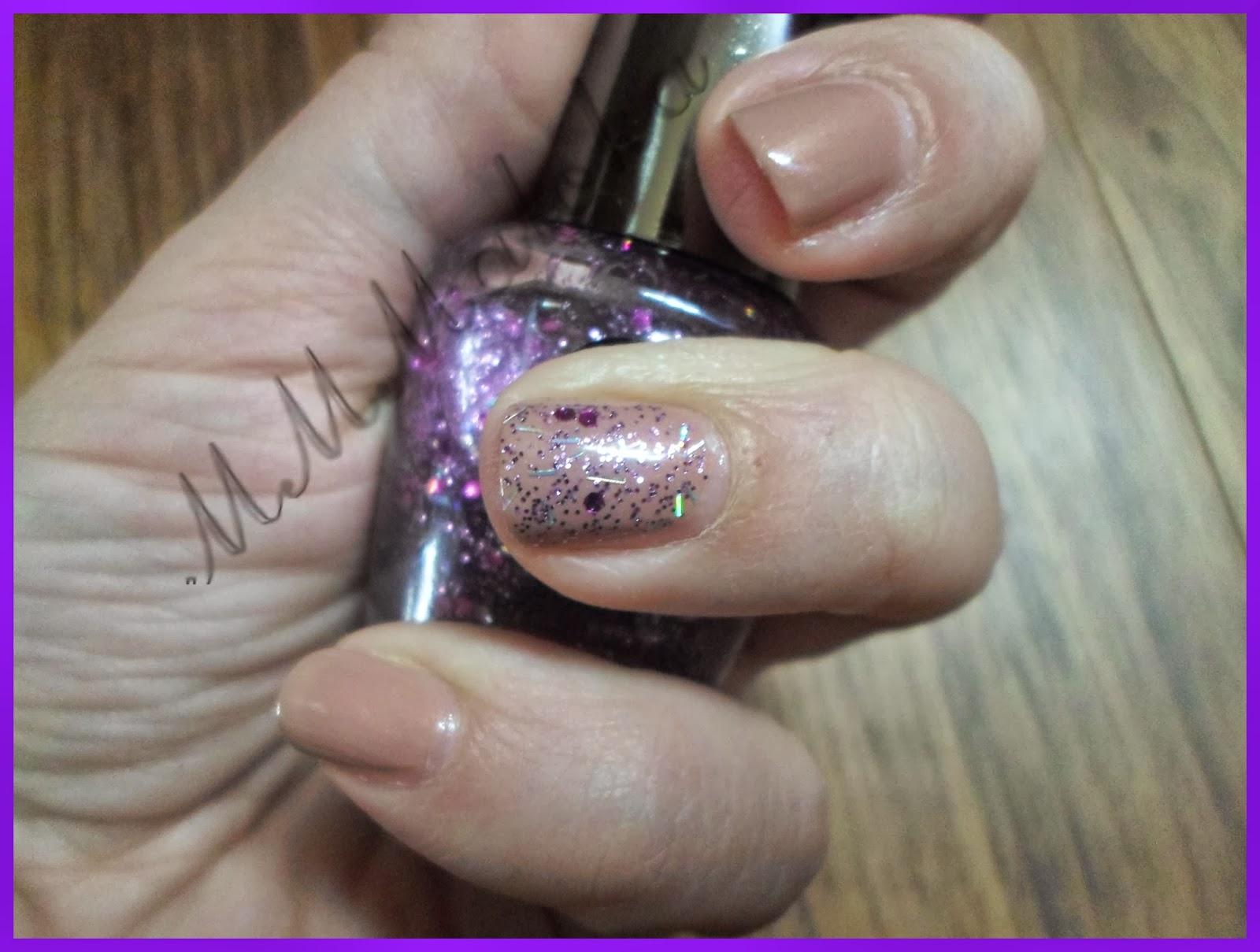 Nudziakowy sensique + fioletowe szaleństwo :-)