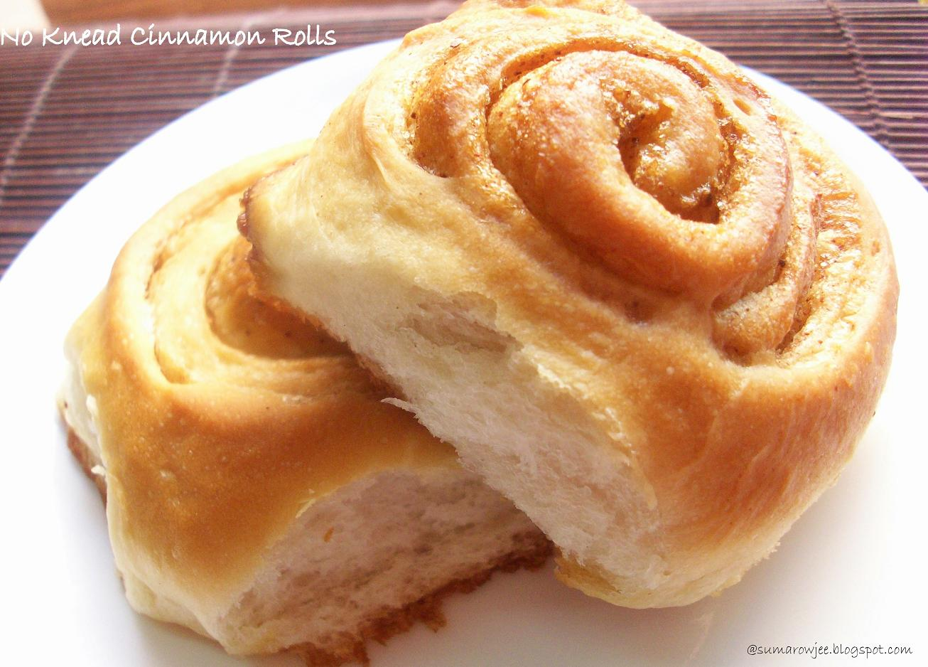 Cakes And More!: No Knead Soft Cinnamon Rolls (Eggless) - Pioneer ...