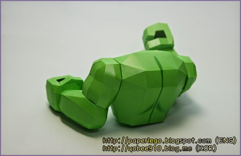 Making Lego Hulk Papercraft - Body Part