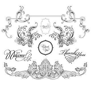 バロック様式のフレーム・ボーダー vintage baroque frames and decorative borders イラスト素材1