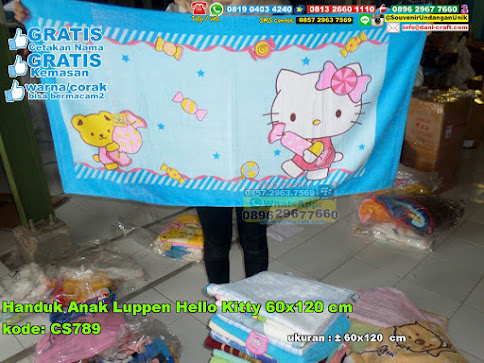 Handuk Anak Luppen Hello Kitty 60x120 Cm