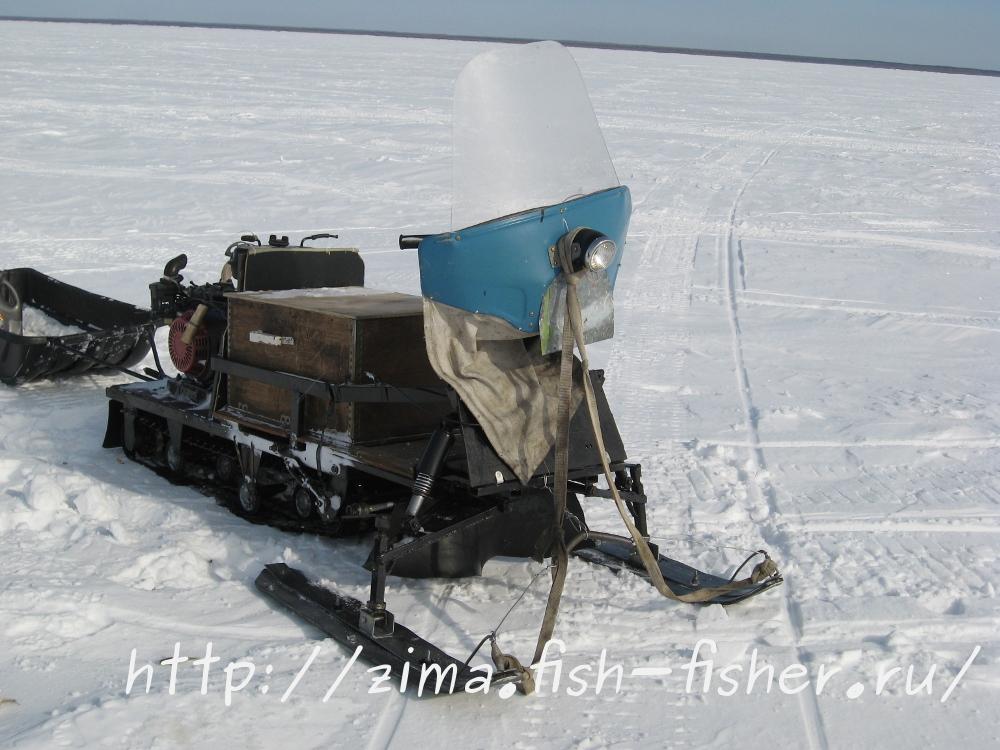 Самодельный снегоход для зимней рыбалки