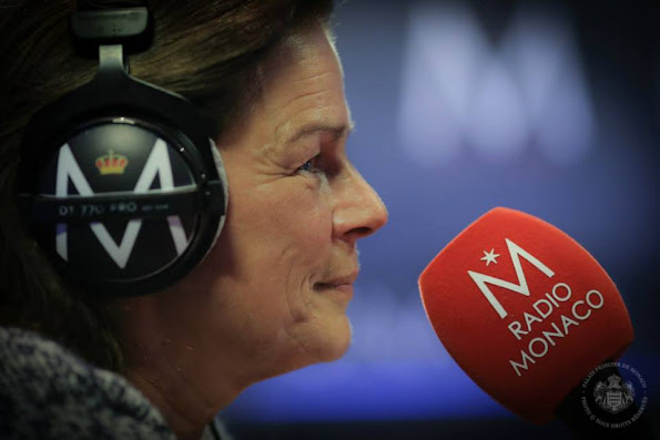 Princess Stephanie of Monaco took part in a radio program dedicated to the fight against HIV/AIDS