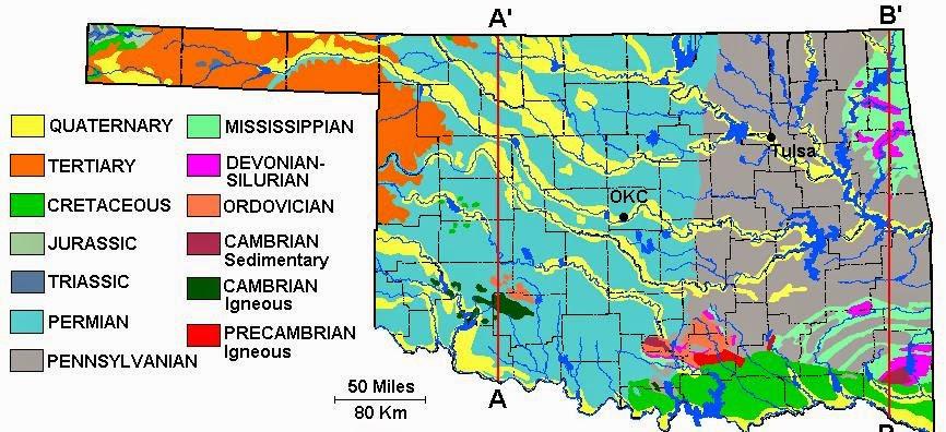 CSMS GEOLOGY POST ROAD TRIP EASTERN OKLAHOMA - Road map of oklahoma