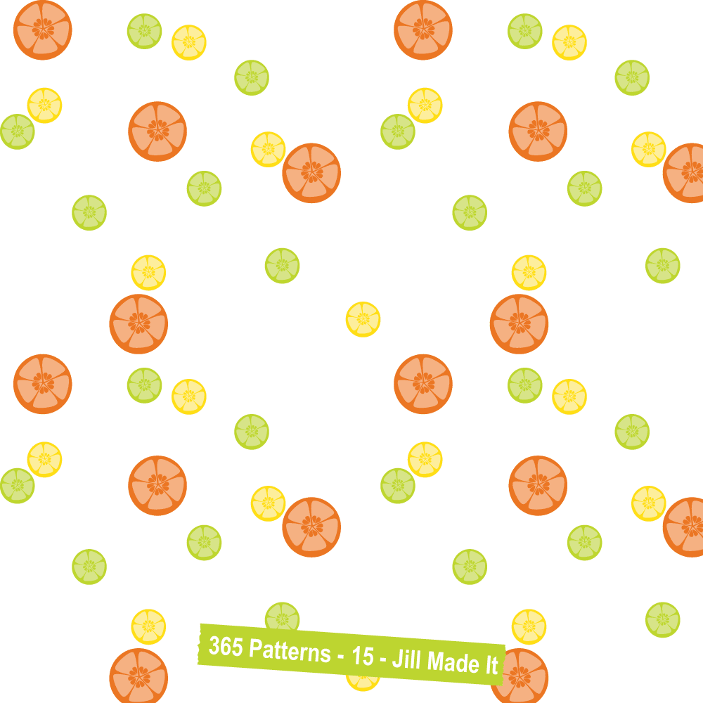 365 Patterns:  Random Citrus