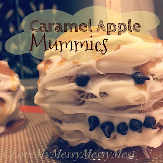 caramel apple mummies