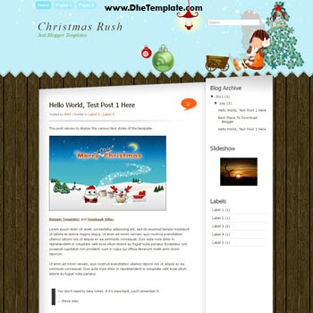 Christmas Rush Blogger Template