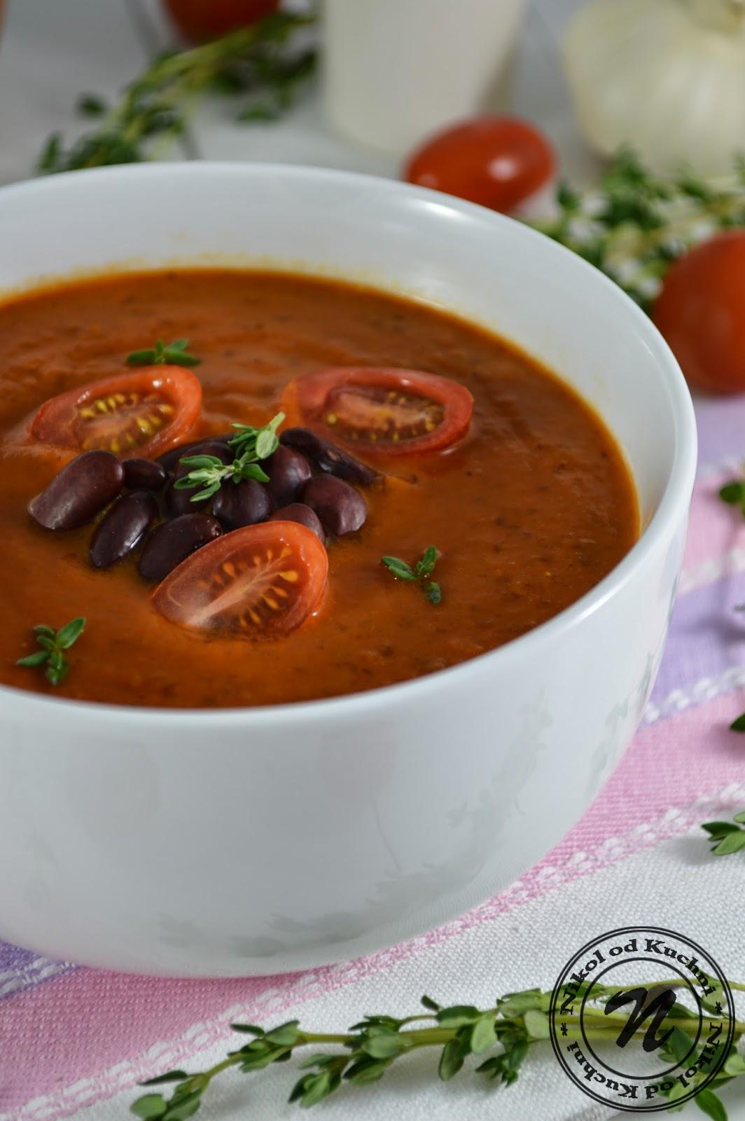 Nikol Od Kuchni Zupa Pomidorowo Paprykowa Z Fasola