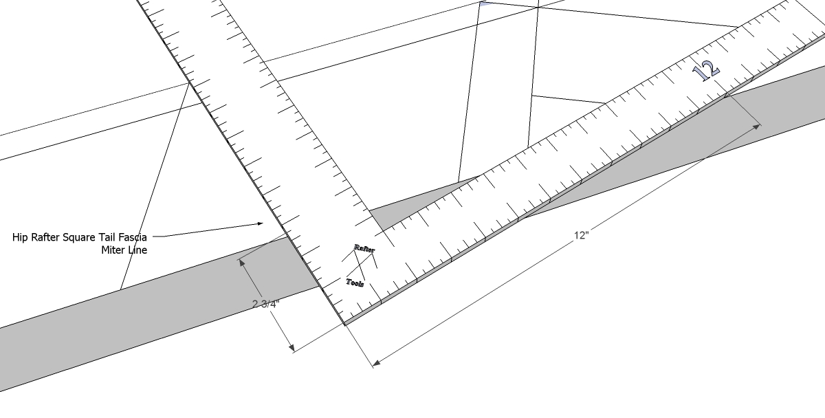 Roof framing geometry how to precisely layout an for What is a 4 12 roof pitch