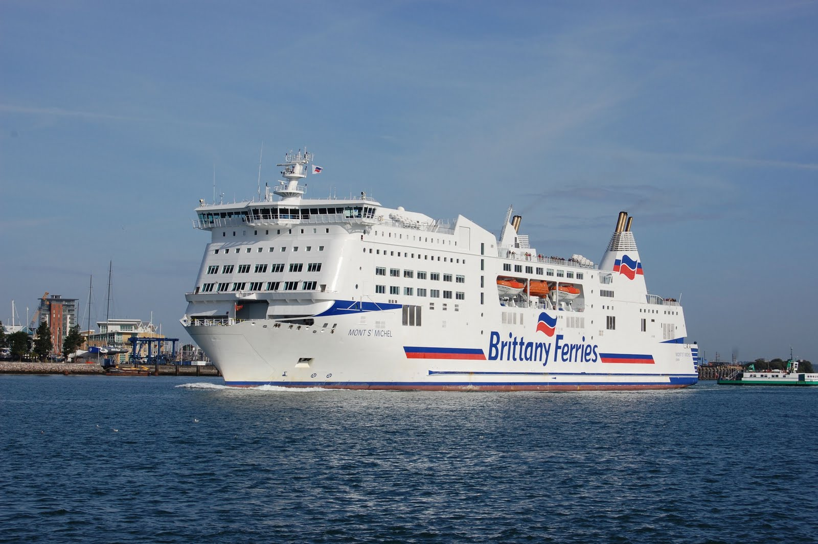 brittany ferries brittany ferries mont stmichel at portsmouth. Black Bedroom Furniture Sets. Home Design Ideas