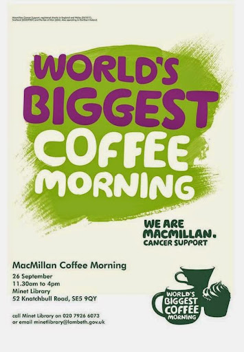 World Biggest Coffee Morning at the Minet Library at vassallview.com