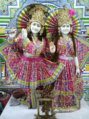 Idols of Radha -Krishna in a Glass Temple along the way to Haridwar