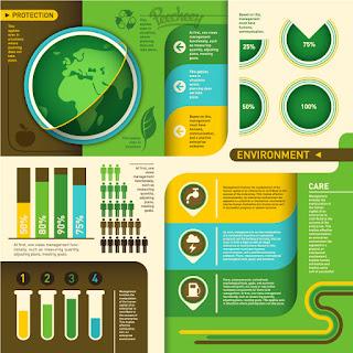 エコロジー関連のインフォグラフィックス Ecology green infographic イラスト素材