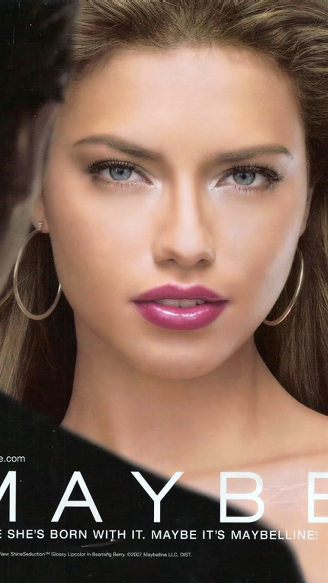 ADRIANA LIMA WALLPAPER MAYBELINE
