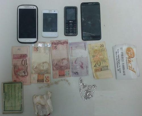 Três pessoas são detidas com drogas no bairro Estrela, em Barra de São Francisco