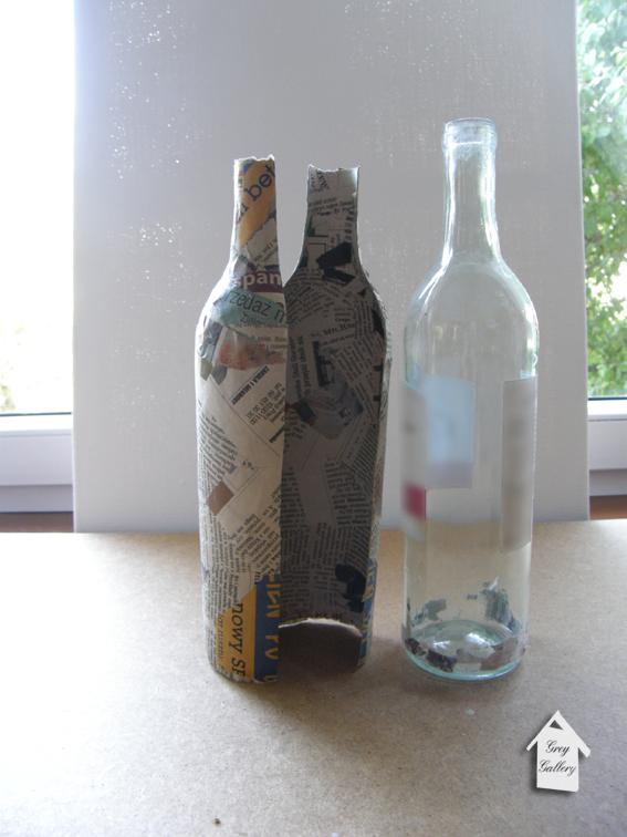 Декор бутылки газетой папье-маше мастер класс - Avangard22.ru