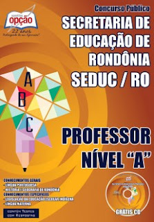 Apostila SEDUC RO 2015 Professor Magistério Indígena Nível A )